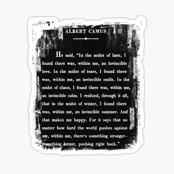 Albert Camus: an invincible summer. 2.0 Sticker