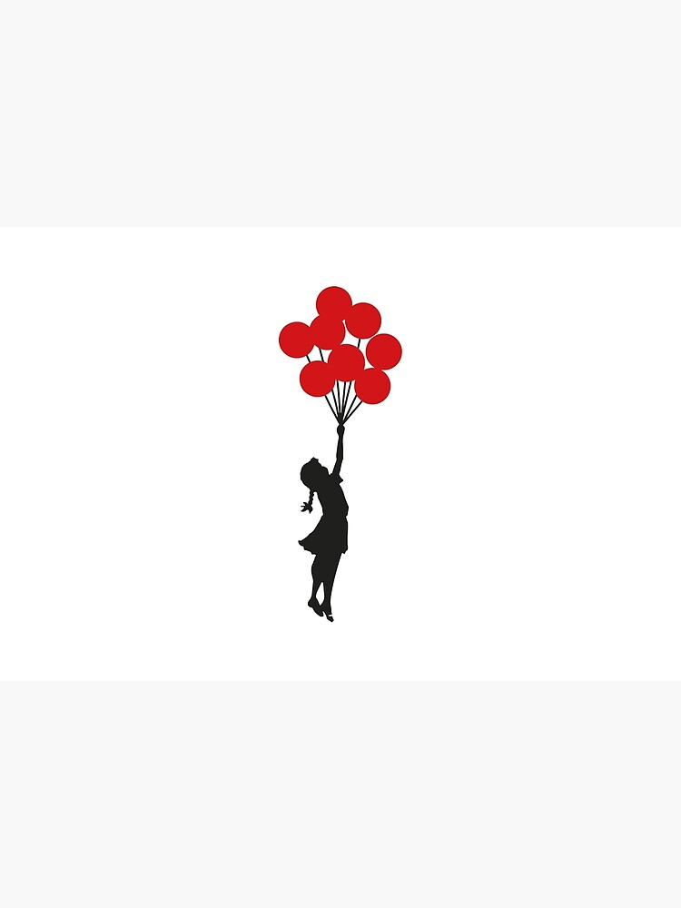 Banksy Girl With Red Balloons At Israeli-Palestine Wall, Palestinial Artwork, Prints, Posters, Bags, Men, Women, Kids by clothorama