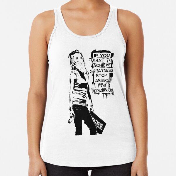 Banksy Armoured Car T-shirt Cool  Vintage Tee Shirt Bunny Tank Top Graffiti Street Art Print For Women