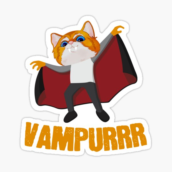 Vampurrr The Vampire Sticker