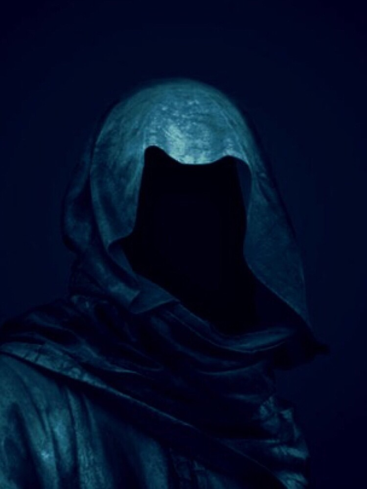Blue Hooded Figure Design by -Soulwax-