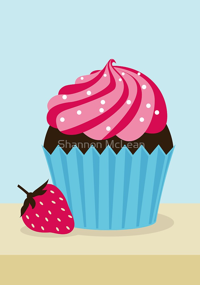 Strawberry Cupcake by Shannon McLean