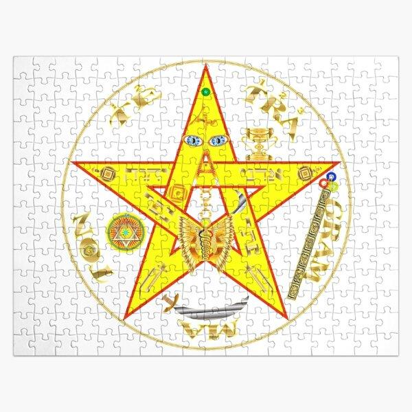 #Kundalini #Pentagrams, #KundaliniPentagrams, #Sign, Symbol, Shape, Design, Illustration, Abstract Jigsaw Puzzle
