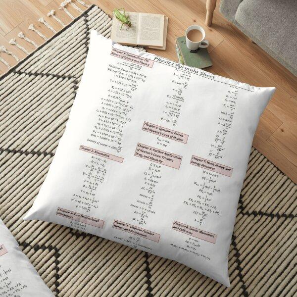Physics Formula Sheet Floor Pillow