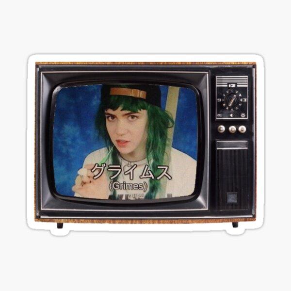Grimes Japanese Television Sticker