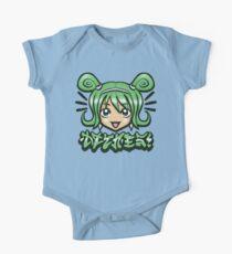 Kawaii Face -Green Kids Clothes