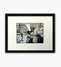 The Barbers of New York Framed Print