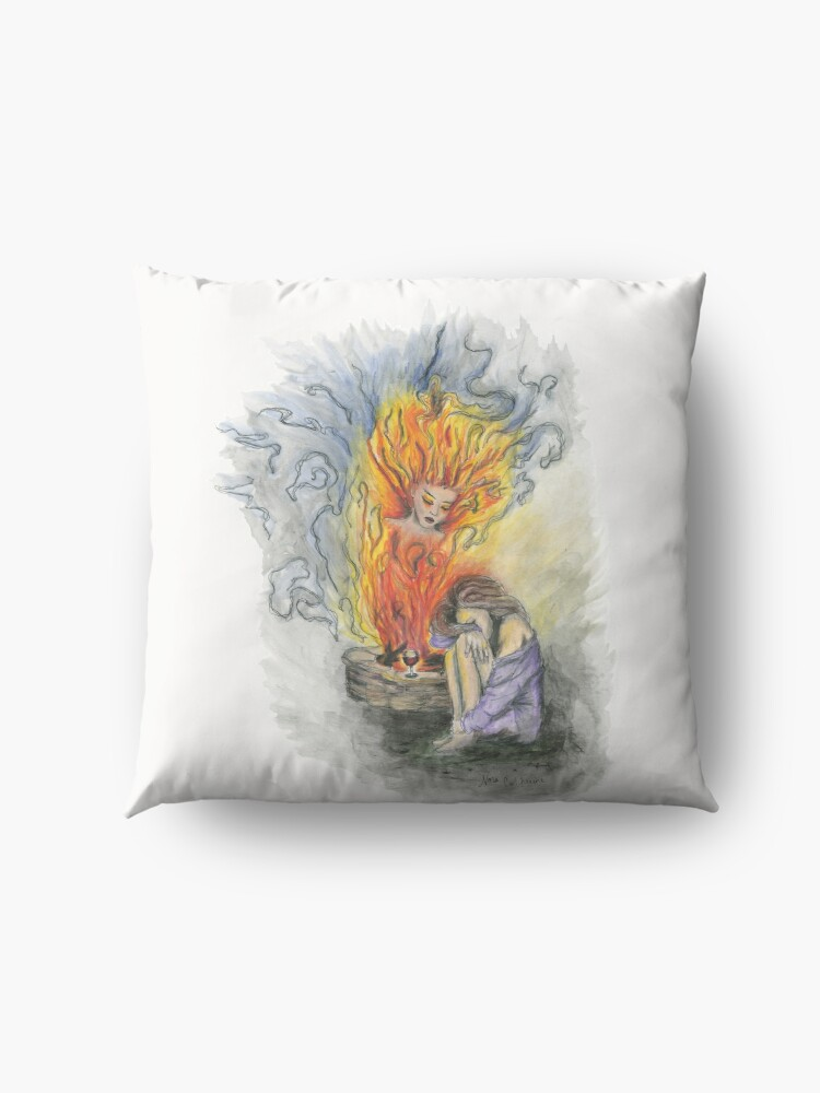 Alternate view of She is Fire Floor Pillow