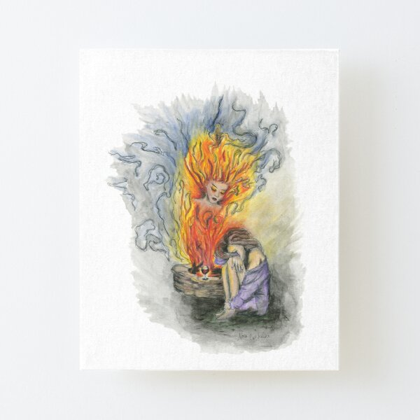 She is Fire Canvas Mounted Print