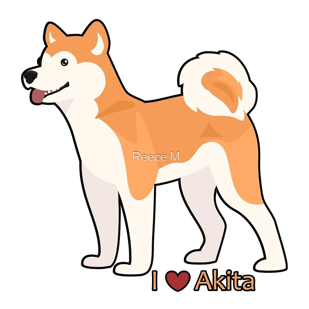 I ❤ Akita by Kreece Draws