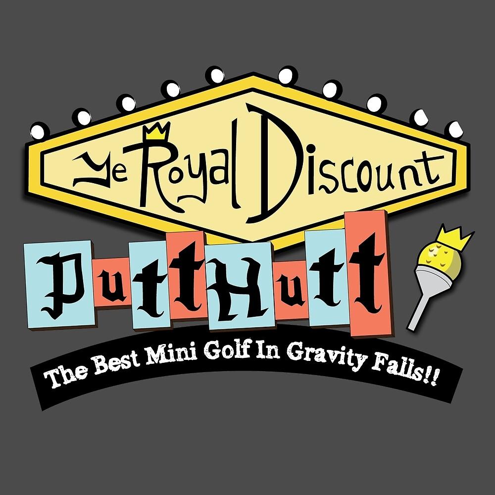 Gravity Falls Mini Golf - Slate Gray by pondlifeforme