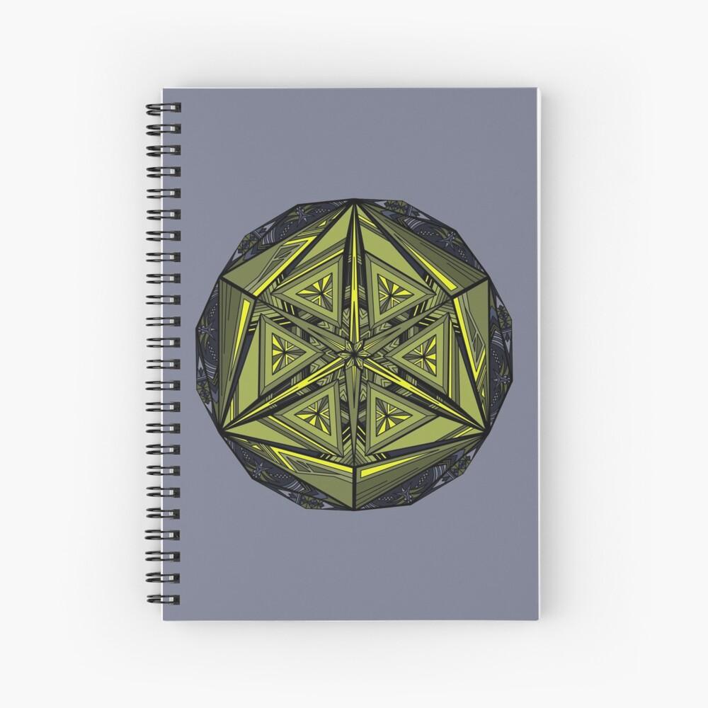 Sticky Weeds Mandala Spiral Notebook