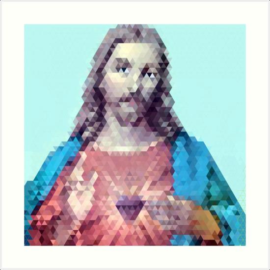 Jesus Mosaic by rickperdue