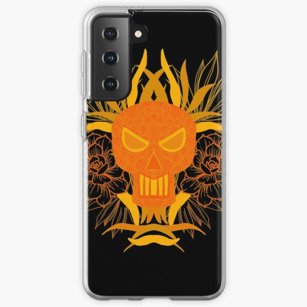 Skull with flowers  Samsung Galaxy Soft Case