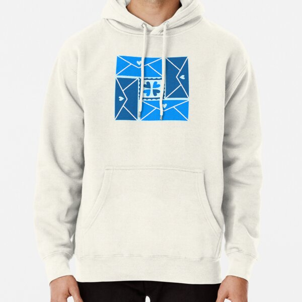 """""""I Heart Postal Workers!"""" Fun Graphic Post Office Letter Writing Mail Carrier Designer Print Pullover Hoodie"""