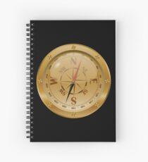 Golden Compass - Steampunk Spiral Notebook