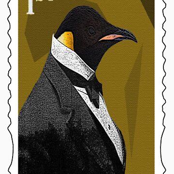 Old Timey Penguin by penguinbackflip