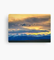 Colorado Rocky Mountain Front Range Sunset Gold Canvas Print