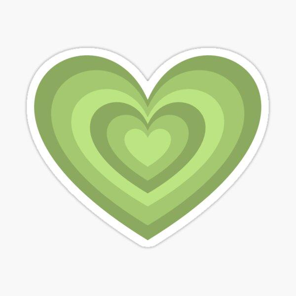 Green Latte Heart Sticker