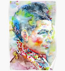 SIMONE DE BEAUVOIR - watercolor portrait Poster