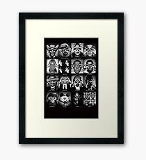 Celebrities Illuminati Singers Eyes Framed Print