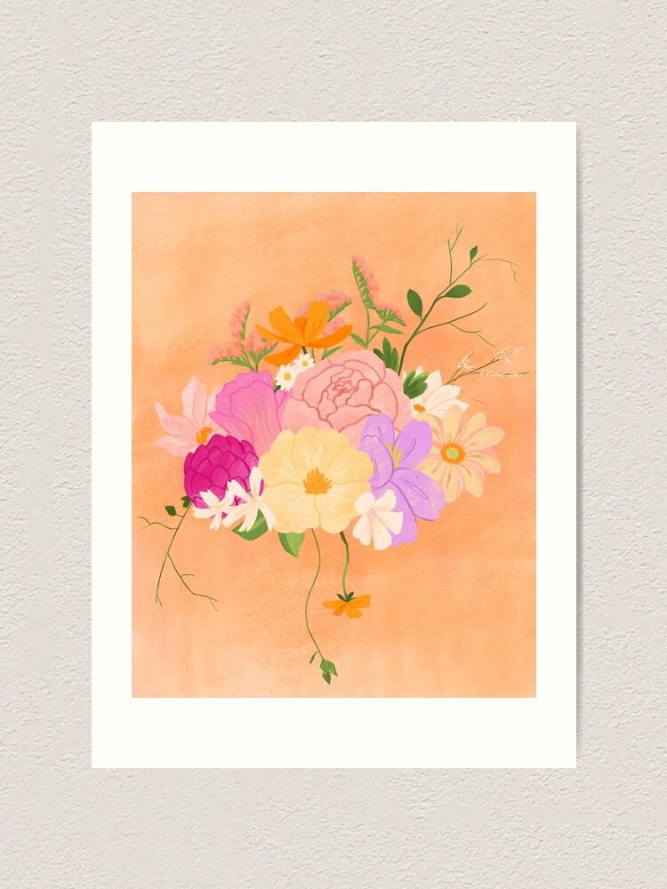 Alternate view of Boho Bouquet Art Print