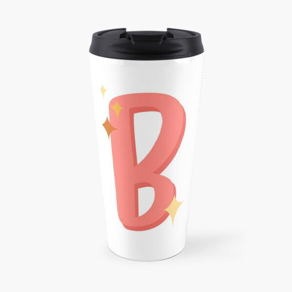 Cute Sparkly Alphabet Monogram Letter B Travel Mug