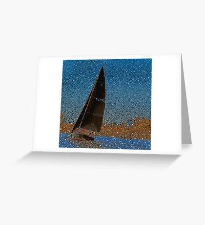 Pointillism in Boating Greeting Card