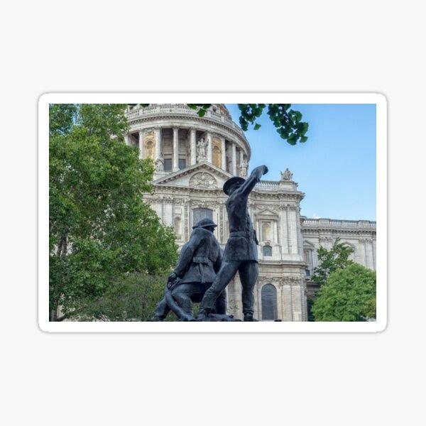 London - modern, elegant,  iconic. Blue / Black Sticker