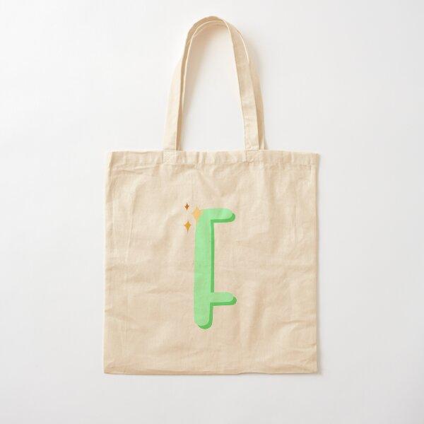 Cute Sparkly Alphabet Monogram Letter F Cotton Tote Bag