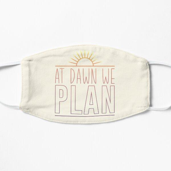 """At dawn we plan!"" [pastel sunrise ombre sticker/t shirt] Flat Mask"