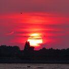 Sunset at Hayling Island by looneyatoms