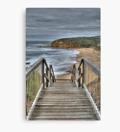Stairway to Surfing Heaven, Bells Beach, Victoria Canvas Print