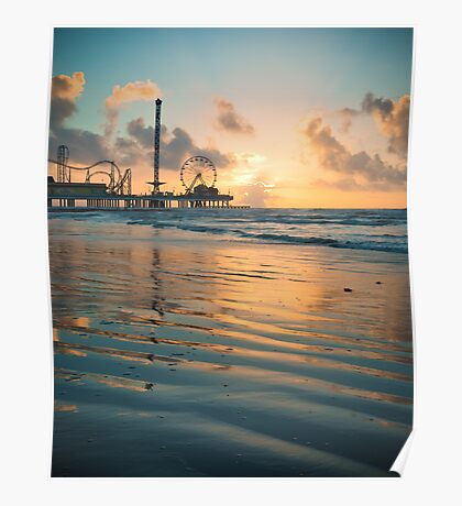Galveston Sunrise Poster