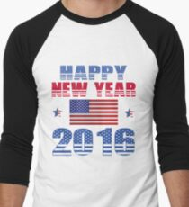 HAPPY NEW YEAR 2016 Men's Baseball ¾ T-Shirt