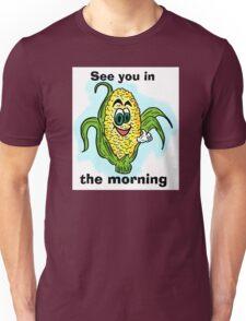 Funny bathroom humor corn drawing Unisex T-Shirt