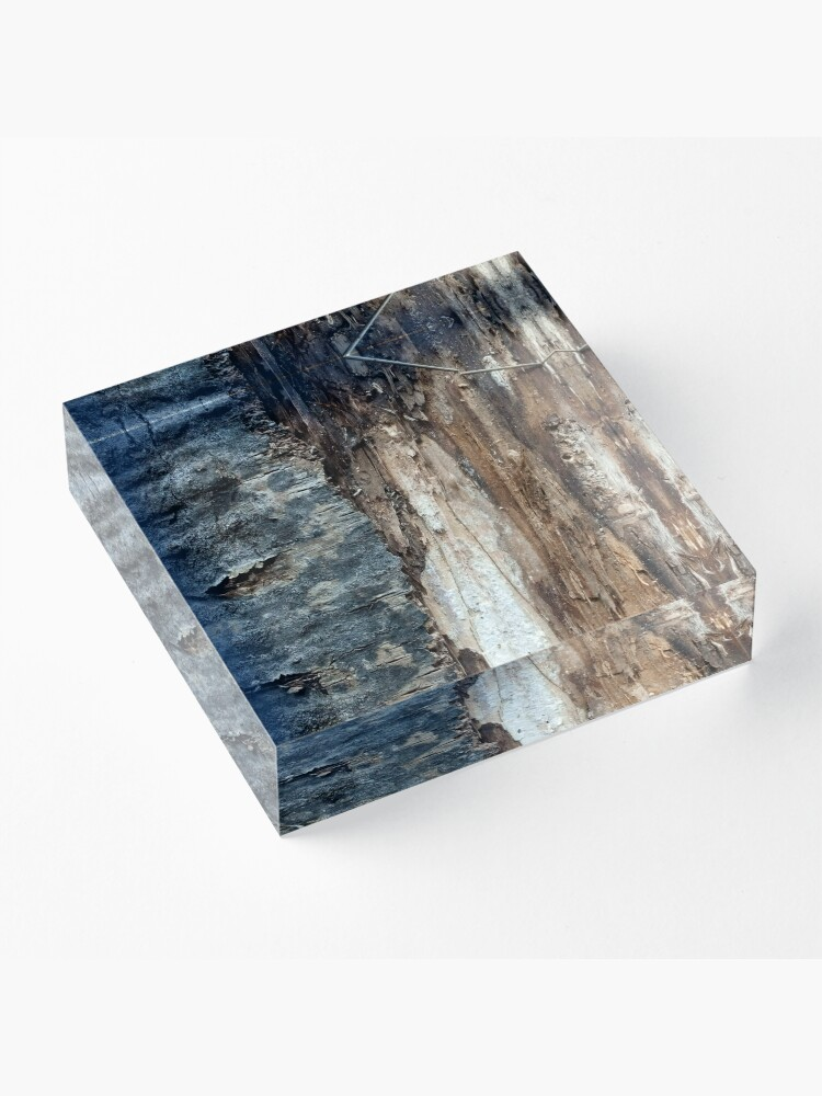 Alternate view of Log up close 1 Acrylic Block