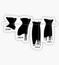 Corsets in a line tee Sticker