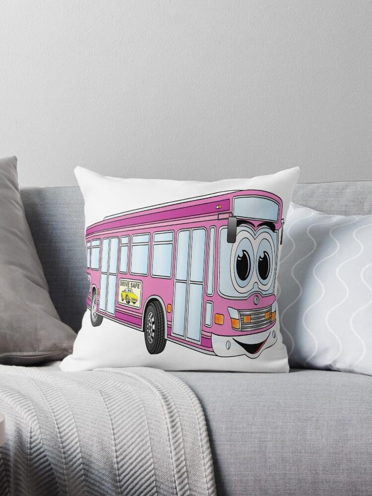 Pink City Bus Cartoon by Scott Hayes