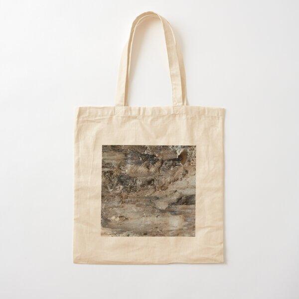 log upclose 3 Cotton Tote Bag