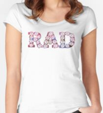 RAD FLOWERS Women's Fitted Scoop T-Shirt