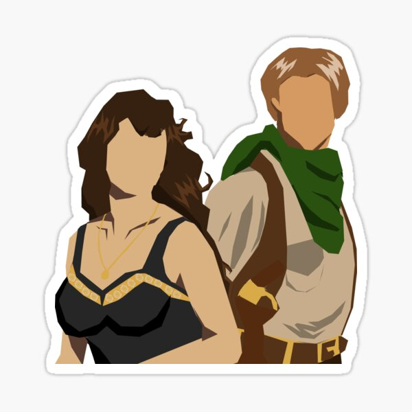 Evie and Rick Sticker