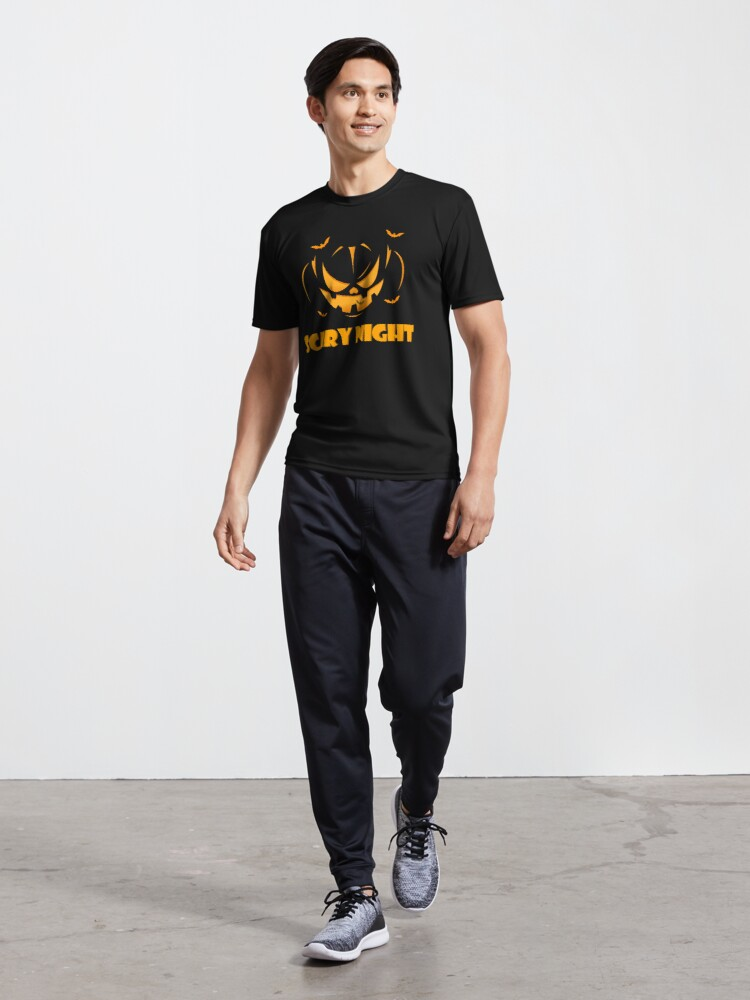 Alternate view of Halloween SCARY NIGHT Active T-Shirt