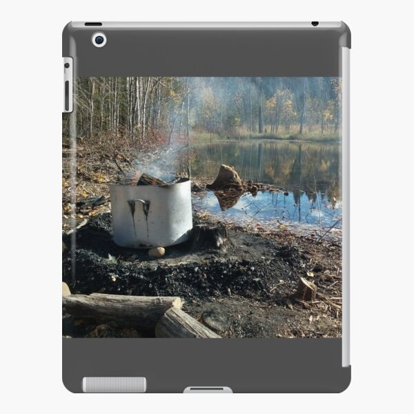 Autumnal drum fire by the lake horizontal iPad Snap Case