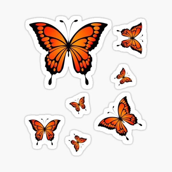 Beautiful butterfly - eastern tiger swallowtail butterfly pack Sticker