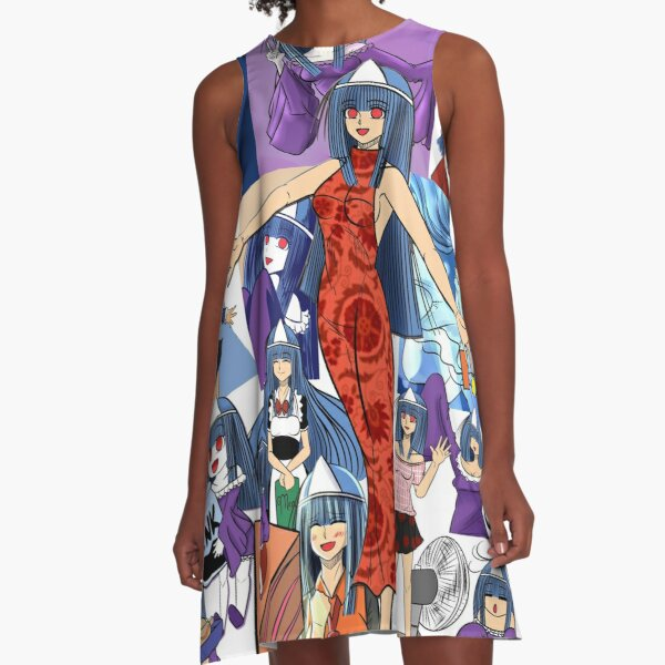 Oh My Ghost Maya Collage A-Line Dress