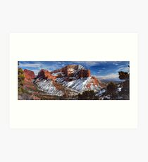 A view of Kolob Art Print