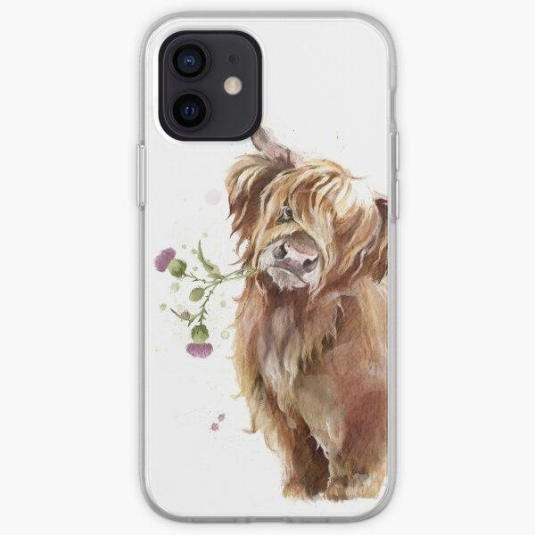Highland Cow Funda blanda para iPhone