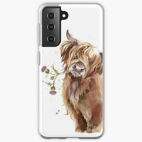 Highland Cow Funda blanda para Samsung Galaxy