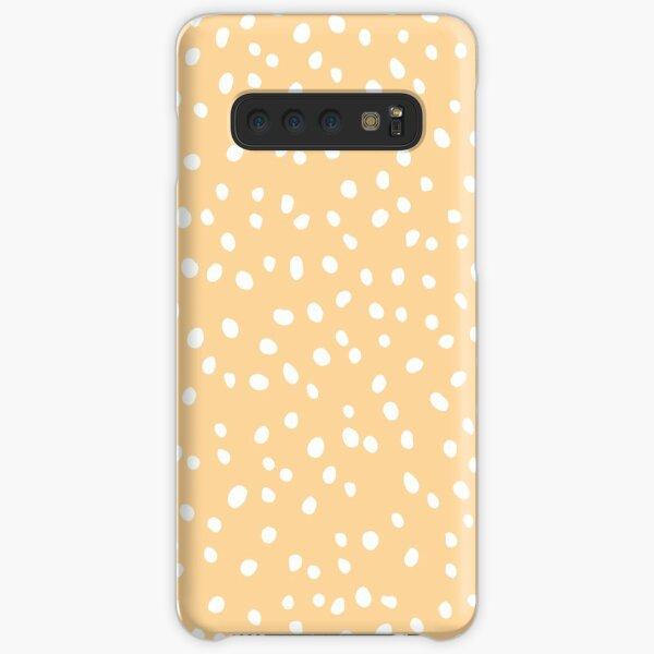 Pastel Yellow Orange Aesthetic Dalmation Dots Samsung Galaxy Snap Case